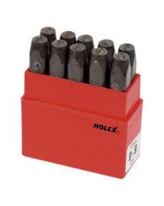 085445 4-Holex Figure/Number Punch Set 0-9