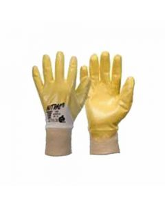 094410 9-Nitras Nitrile Gloves, Yellow, Ce 4111