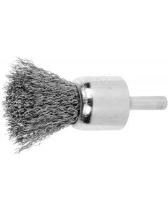 574600 22 x 22-Lessmann End Brush Stainless Steel Wire 0,3 mm