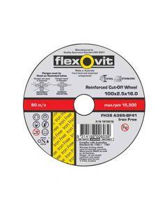 Cut off wheel Iron Free Inox 100 x 2.5 x 16 FH38 A36S-BF41 I/F-TH-66252844028-P/N.1810216