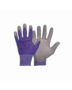 094250 10-Honeywell Fine Knitted Work Gloves, Blue, Soft-PU