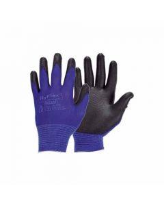 094260 11-Ansell Fine Knitted Work Gloves Hyflex 11-618, Blue