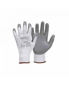094350 11-Ansell Fine Knitted Gloves Hyflex, White-Grey