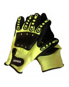 UVEX Mechanical Risks,Cut Protection, Impact 1, Cut Level 5 Size 9-6059809