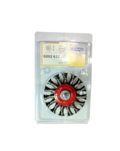Wheel Brush Twist Knot Steel Wire With Shank 75 mm X 12 X 6 Shank-0.50-T15-'0202611151