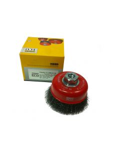 Osborn Cup Brush Crimped Steel Wire 4'(100) M14x2.0 -0.3-T30-ECO- 0008613164