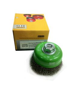 Osborn Cup Brush Crimped Stainless Steel Wire 4'(100) M14x2.0  -0.3- ECO- 0208613064