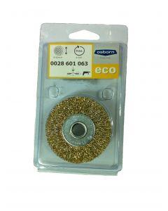 Wheel Brush Crimped Brass Coated Steel Wire 63 mm X 9X9.5 mm-03-T13-Diy-0028601063