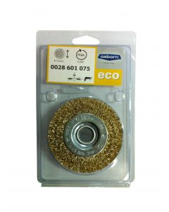 Wheel Brush Crimped Brass Coated Steel Wire 75 mm X 10X12.7 mm-03-T16-0028601075