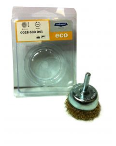 Cup Brush Crimped Brass Coated Steel Wire 2'(50) With 6 mm Shank -0.3-T16- 0028600041