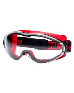 Safety Goggles Ultrasonic Fire Goggle Black Red Frame, Supravision Excellence