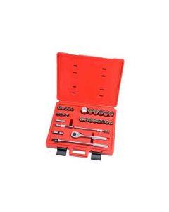 1/2' Drive 29 Piece Metric Socket Set - 12 Point-J54212