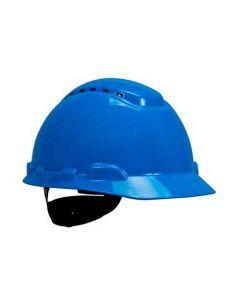 3M H-703V 4-Point Rachet Suspension Hard Hat (Vented Blue) (Pack. 1/20/20)-7000002420