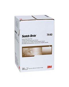 Scotch-Brite 7440 Heavy Duty Hand Pad, 6 In X 9 In (Pack: 3/20/60)-7100080459