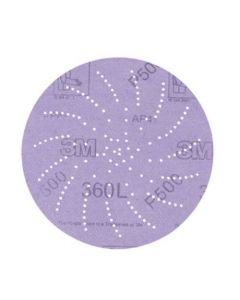 3M Hookit Clean Sanding Disc 360L, 01709, 5 in P500,(Pack. 5/100/500)-7010029937