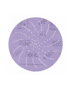 3M Hookit Clean Sanding Disc 360L, 01712, 5 in P1000,(Pack. 5/100/500)-7010029940