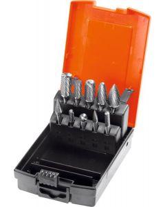 541510-Holex Burr Set 10 Pieces, Z-7 Medium, With Diamond Cut + Case