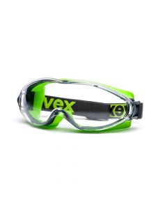 UVEX Safety Goggles Full View , Ultrasonic Grey/Lime, SV-Extreme Clear-9302275