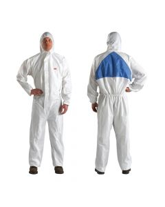 3M 4540  Coverall White Blue Type5/6 Size M (Pack. 20/1/20)-7000010366