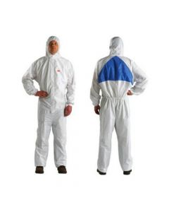 3M 4540 Coverall White Blue Type 5/6 Size XL (Pack. 20/1/20)-7000010368